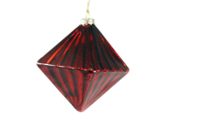 RED GLASS DIAMOND HANGER