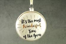 10CMD GLASS DISC ' IT'S THE MOST WONDERFUL TIME OF THE YEAR'