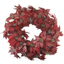FROSTED POINSETTIA WREATH