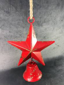 35CMH RED STAR WITH HANGING BELL