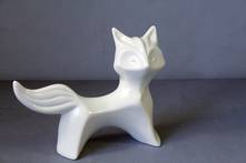 STYLISED STANDING CERAMIC FOX