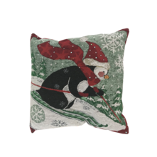 SKIING PENGUIN CUSHION