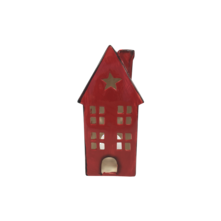 LARGE RED CERAMIC HOUSE