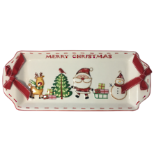 CERAMIC CHRISTMAS RECTANGLE PLATE