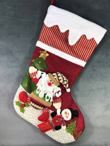 LARGE SANTA CHRISTMAS STOCKING