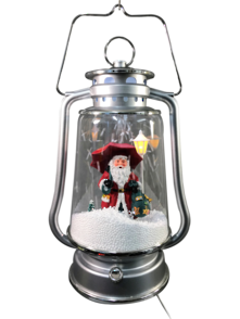 34CMH SNOWING SILVER LAMP