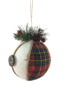 8CMD FABRIC TARTAN BALL