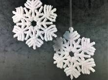 SET 2 12CMD PLASTIC WHITE SNOWFLAKES
