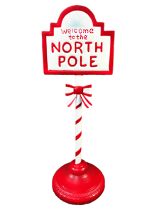 46CMH METAL WELCOME TO THE NORTH POLE SIGN