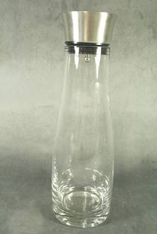 GLASS WATER JUG WITH STAINLESS POURER