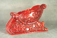 RED GLASS SLEIGH