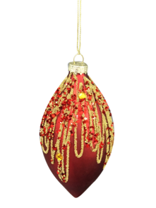 RED GLASS ONION WITH GOLD GLITTER (6)