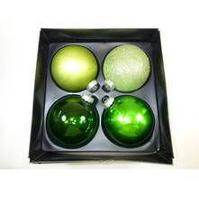 L / MULTI GREEN GLASS DECORATIONS