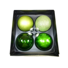 LARGE MULTI GREEN GLASS BAUBLES (2)
