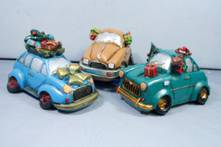 SET 3 CHRISTMAS CARS MONEYBOX