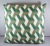 GREEN EMROIDERED  CUSHION