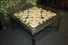 90CMSQ AGED ARABESQUE COCKTAIL TABLE