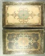SET 2 PERSIAN CARPET PATTERED TRAYS