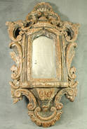 AGED WOOD ALBERTINE WALL MIRROR