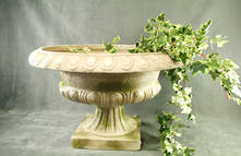 AGED MAGNESIA PLANTER
