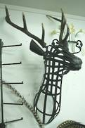 METAL FRAMED DEER HEAD