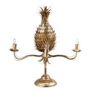 GOLD METAL PINEAPPLE TABLE  LAMP