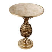 GOLD METAL PINEAPPLE SIDE TABLE