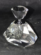SMALL RECTANGLE CUT CRYSTAL PERFUME BOTTLE