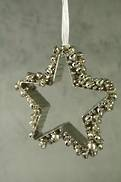 AGED SILVER STAR TREE HANGER