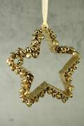 AGED GOLD STAR TREE HANGER