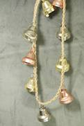 GOLD/ROSE GOLD/ SILVER METAL BELL GARLAND
