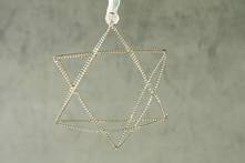 SILVER TWISTED WIRE STAR (6)