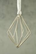 SILVER TWISTED WIRE TRIANGULAR FINIAL (6)