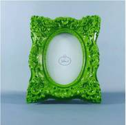 RESIN APPLE GREEN SQUARE PHOTO FRAME