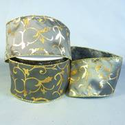 PEWTER RIBBON W/GOLD FLOCKED DESIGN