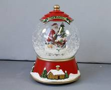 MUSICAL SANTA AND TREE SNOWGLOBE WITHOUT WATER