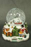 SNOWMAN TRAIN SCENE SNOWGLOBE