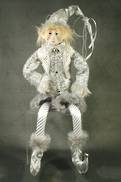 35CMH FLEXIBLE SILVER / GREY POSABLE ELF