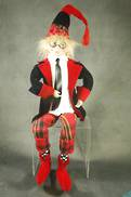61CMH FLEXIBLE RED / BLACK POSABLE ELF