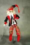 46CMH FLEXIBLE RED / BLACK POSABLE ELF