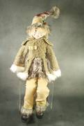61CMH FLEXIBLE TARTAN COUNTRY POSABLE ELF