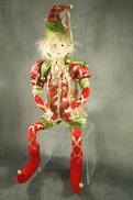 61CMH FLEXIBLE RED/GREEN POSABLE ELF