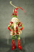 35CMH FLEXIBLE RED/GREEN POSABLE ELF