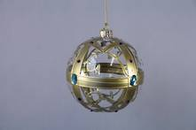 10CMD GOLD AND CLEAR GLASS BALL
