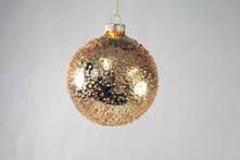 8CMD COPPER GLASS SPRINKLED BALL HANGER