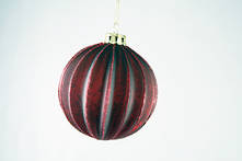 RED MERCURY GLASS BALL HANGER