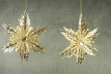 SET2 GOLD SNOWFLAKES IN 2 PATTERNS