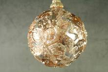 9CMD ROSE GOLD BALL WITH FILLIGREE FLOWER PATTERN
