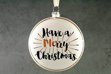 10CMD GLASS DISC ' HAVE A MERRY CHRISTMAS' (6)