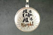 10CMD GLASS DISC ' ALL IS CALM ALL IS BRIGHT' (6)